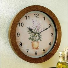 Herb Garden Kitchen Wall Clock By Collections Etc