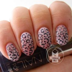Gradient leopards with @julepmaven Simone and Joy, spots painted in Victoria's Secret Game on, topped with #chinaglaze Fairy Dust. :) - @libedon