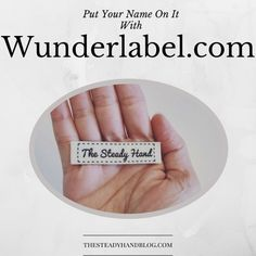 Put Your Name On It With Wunderlabel.com! | The Steady Hand