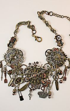 Steampunk Necklace - Unique, Handmade Jewelry - Angela Venable Art