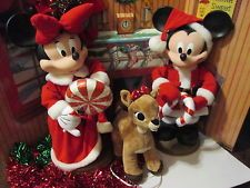 disney mickey minnie christmas motionettesaxp29 adorable display pieces - Mickey And Minnie Christmas Decorations