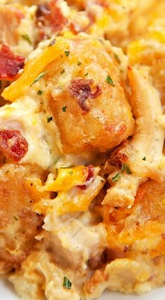 """Cracked Out"" Chicken Tater Tot Casserole"