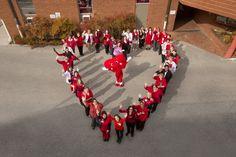 Carilion Clinic celebrates Wear Red Day and raises awareness of heart disease! #GoRedSelfie