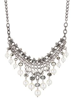 14th & Union | Pearl & Bead Drop Frontal Necklace | Nordstrom Rack
