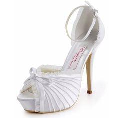 29b31fc7ba79 ElegantPark EP11056-IP Women s Peep Toe Platform High Heels Satin Evening  Prom Wedding Bridal Pumps
