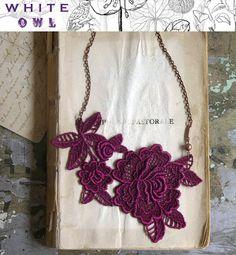 vintage lace necklace DIY