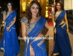Natasha Doshi in a blue half saree   Actress Natasha Doshi attended C Kalyan Son Tejas wedding reception wearing a blue half saree. She finished off her look with diamond jewelry and curly hair!  The post Natasha Doshi in a blue half saree appeared first on South India Fashion.  from South India Fashion https://www.southindiafashion.com/2018/03/natasha-doshi-blue-half-saree.html via IFTTT South India Fashion