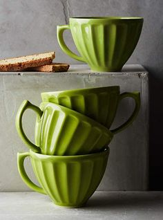 Greenery - Pantone color of 2017. Greenery cups will bring a fresh touch to your kitchen design.