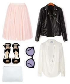 """""""Today's Outfit"""" by nikkischeper ❤ liked on Polyvore featuring Ted Baker, Anthony Vaccarello, Paul Andrew, The Mode Collective, Karen Walker, oversizedglasses, tutuskirt and preppychic"""