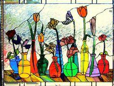 Flowers in Bottles by Michal Adams