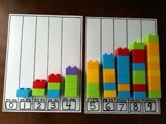 Rockabye Butterfly: Hands-on Counting Activities using lego blocks to match the numbers at the bottom of the graph