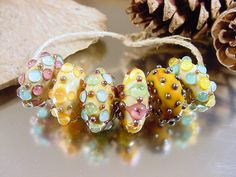 Handmade lampwork glass beads Artisan glass by AvasBeadGarden, $42.00