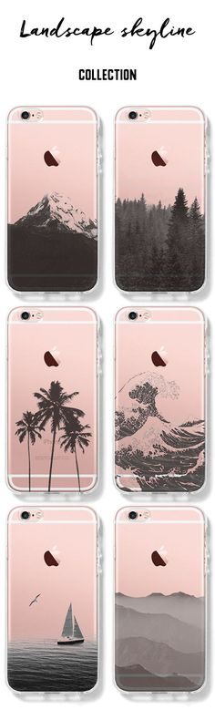 pinterest: @jaidyngrace Stylish Landscape iPhone Clear Case for 6S/6/Plus/SE/5S/5/5C