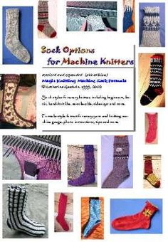 Lots of sock patterns for flat bed knitting machine sockop11 by Cady May, anyway, via Flickr