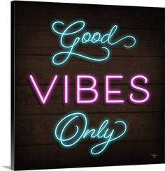 Good Vibes Only Neon Sign Real Neon Light Z1324