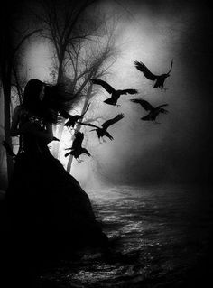 Angel After Dark. Top Gothic Fashion Tips To Keep You In Style. Consistently using good gothic fashion sense can help Dark Fantasy Art, Dark Gothic Art, Gothic Artwork, Dark Art, Fantasy World, Vampires, Gothic Kunst, Art Noir, Arte Obscura