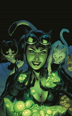 We're not cat people, but we do like ourselves some Catwoman with Green Lantern rings! DC Comics