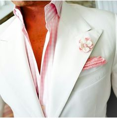 White Jacket with pink as the color to pop