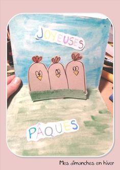 carte pop up de Pâques Pop Up, Lunch Box, Make A Map, Winter, Children