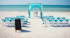Aqua beach wedding of my dreams!