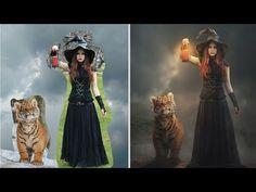 Photoshop Manipulation Tutorial   Fantasy Light Foggy Night Effect - YouTube