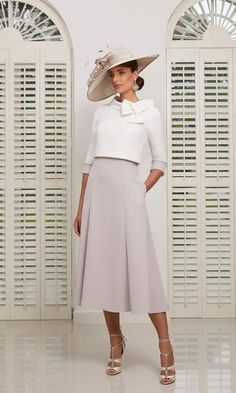 Veni Infantino From Fab Frocks Ascot Dresses, Day Dresses, Bride Dresses, Mother Of Bride Outfits, Mother Of The Bride, Outfit Chic, Dress And Jacket Set, Elegantes Outfit, Groom Outfit