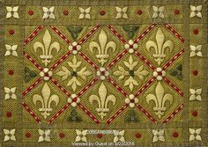 Textile design, by A.W.N. Pugin,  for St Augustines of Ramsgate. England, mid-19th century