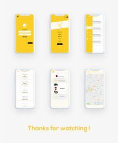 Humour festival App on Behance Android App Design, App Ui Design, Interface Design, Mobile Application Design, Mobile Web Design, Business Cards Layout, App Design Inspiration, Apps, Mobile App Ui