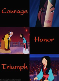 MULAN...the only Disney princess who I can truly admire. I hope there are many more like her in fujture films!