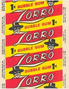 zorro miss the gum Vintage Packaging, Vintage Labels, Vintage Posters, Vintage Candy, Vintage Love, Old Candy, Penny Candy, Mid Century Art, Chewing Gum