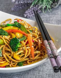 Recipe for Chinese noodles with vegetables 1 - recette cuisine dessert - Asian Recipes Crockpot Chicken Healthy, Healthy Crockpot Recipes, Vegetarian Recipes, Chicken Recipes, Healthy Noodle Recipes, Asian Noodle Recipes, Asian Recipes, Cold Lunch Recipes, Smoking Recipes