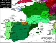 great map of south west european dialects ... but it's in Basque