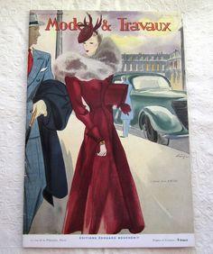 Vintage Magazine French 1930's Modes et Travaux no. 451  by Mrsdepew, $65.00