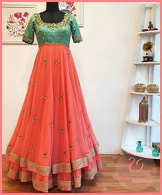 She is my favourite new designer. Geethika Kanumilli in one word, is every brides dream designer. Check out her latest spring summer collection here. Half Saree Designs, Lehenga Designs, Blouse Designs, Churidar Designs, Long Gown Dress, Lehnga Dress, Anarkali Lehenga, Anarkali Gown, Bollywood Anarkali Suits