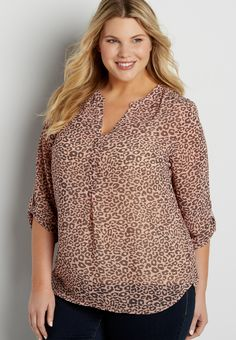 2bcb6b671ce33 the perfect plus size blouse in animal print. maurices