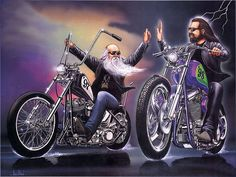 vintage motorcycle art | Easy Rider, art, bike, motorcycles, other