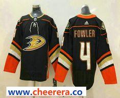 433fd6c13 Men s Anaheim Ducks  4 Cam Fowler Black 2017-2018 Hockey Stitched NHL Jersey