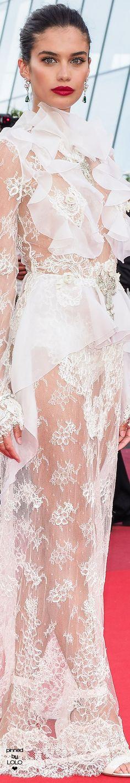 Sara Sampaio Cannes 2017 in Francesco Sognamiglio gown