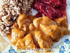 Kuchnia domowa Ani: Gulasz z szynki wieprzowej Snack Recipes, Snacks, French Toast, Lunch, Chicken, Dinner, Cooking, Breakfast, Food