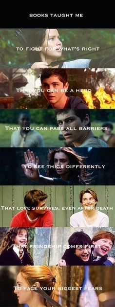The Hunger Games - Percy Jackson - The Maze Runner - The Mortal Instruments - The Fault In Our Stars - Harry Potter - Divergent