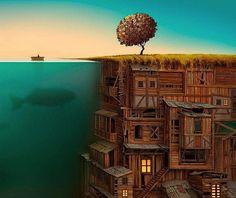 Por Amor al Arte: Jacek Yerka es un pintor increíble.