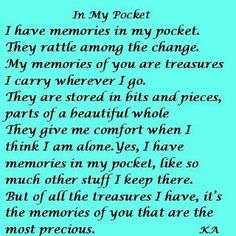 MEMORIES IN MY POCKET