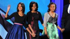 Sasha and Malia Obama Follow in Their Mother's Fashionable Footsteps on Election Night