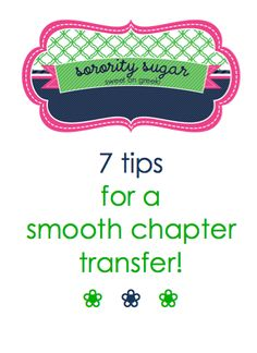 changing chapters soon? here are some helpful hints for fitting in... <3 BLOG LINK: http://sororitysugar.tumblr.com/post/44794294187/sorority-q-a-transferring-worries#notes