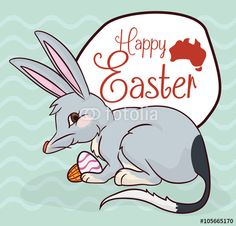 Mischievous Bilby with Chocolate Eggs in Easter Celebration