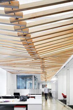 Turelk's Los Angeles Office || Modern Ceiling | Office Ceiling | Interior Design || #ModernCeiling #OfficeCeiling www.ironageoffice.com