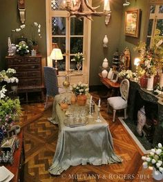 Elaborate miniature interior by Mulvany & Rogers. Great details!