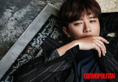 "Actor Jin Goo shared his thoughts on the phenomenal success of KBS series ""Descendants of the Sun"" in an interview with fashion magazine Cosmopolitan Korea. Definition Of Success, Jin Goo, Cute Asian Guys, Cosmopolitan Magazine, Korean Entertainment, Asian Men, Korean Actors"