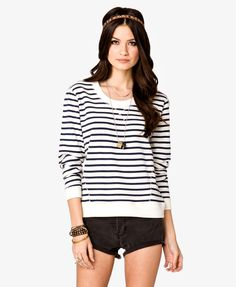 Striped French Terry Pullover | FOREVER21 - 2020642282