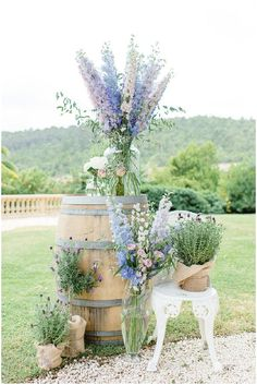 Welcome decoration ; cocktail; wedding; summer; Provence; countryside